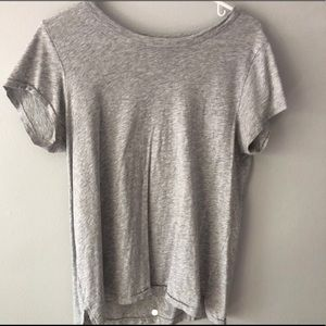 grey boyfriend fit top from aerie